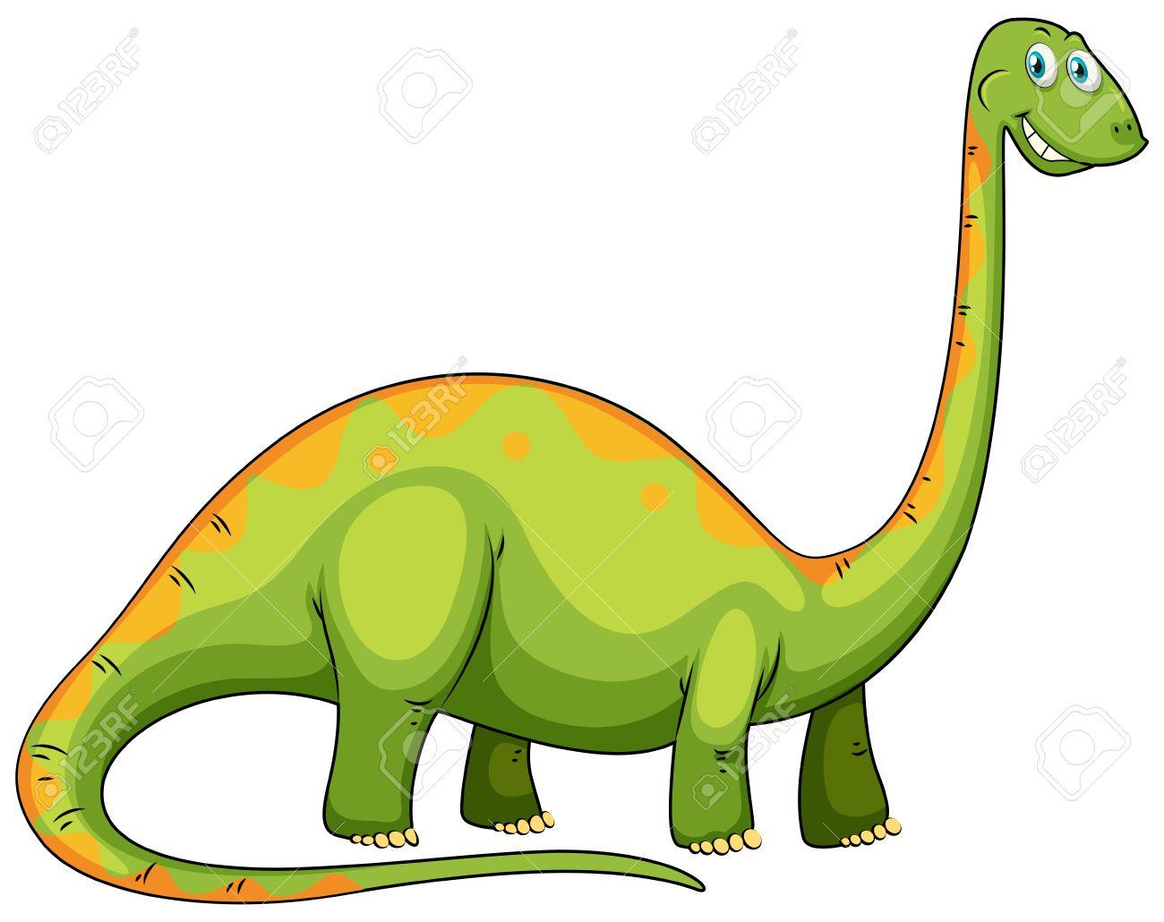 Dinosaurio Verde Con La Ilustracion De Cuello Largo Ilustraciones Vectoriales Clip Art Vectorizado Libre De Derechos Image 46524478 En brasil fue descubierto el dinosaurio de cuello largo más antiguo del mundo. dinosaurio verde con la ilustracion de cuello largo