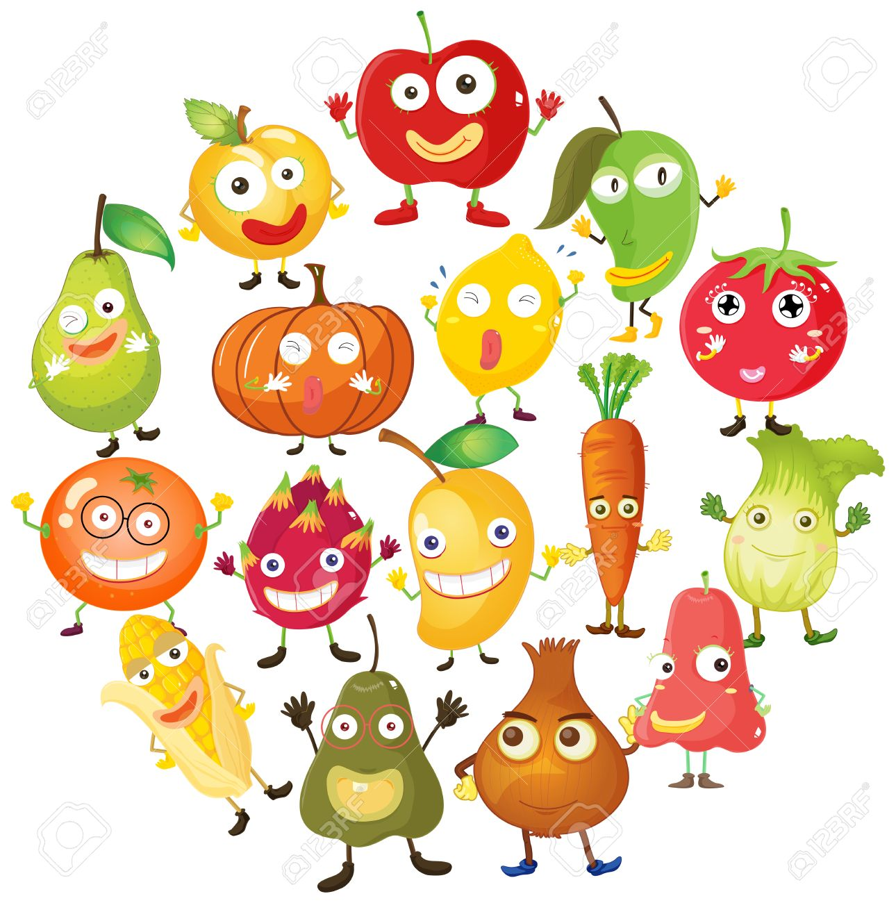 Image result for fruit faces clipart