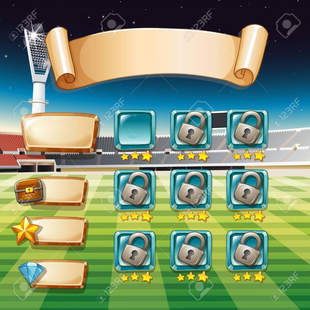 サッカー フィールド背景イラストとゲームのテンプレート ロイヤリティ