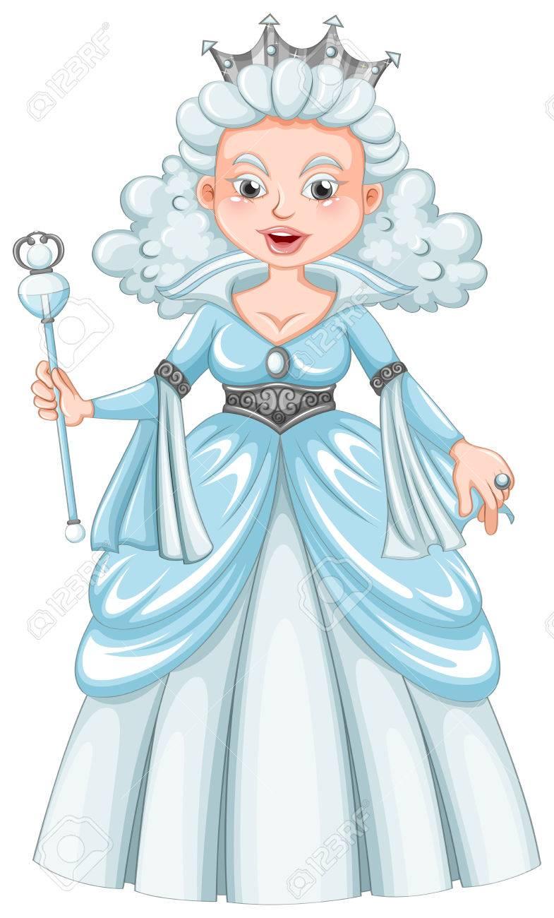白髪イラスト女王のイラスト素材 ベクタ Image