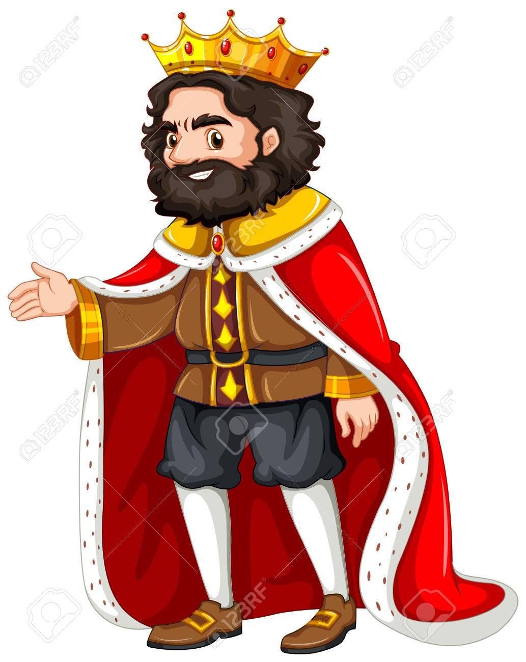 赤い衣のイラストがキングのイラスト素材ベクタ Image 56549311