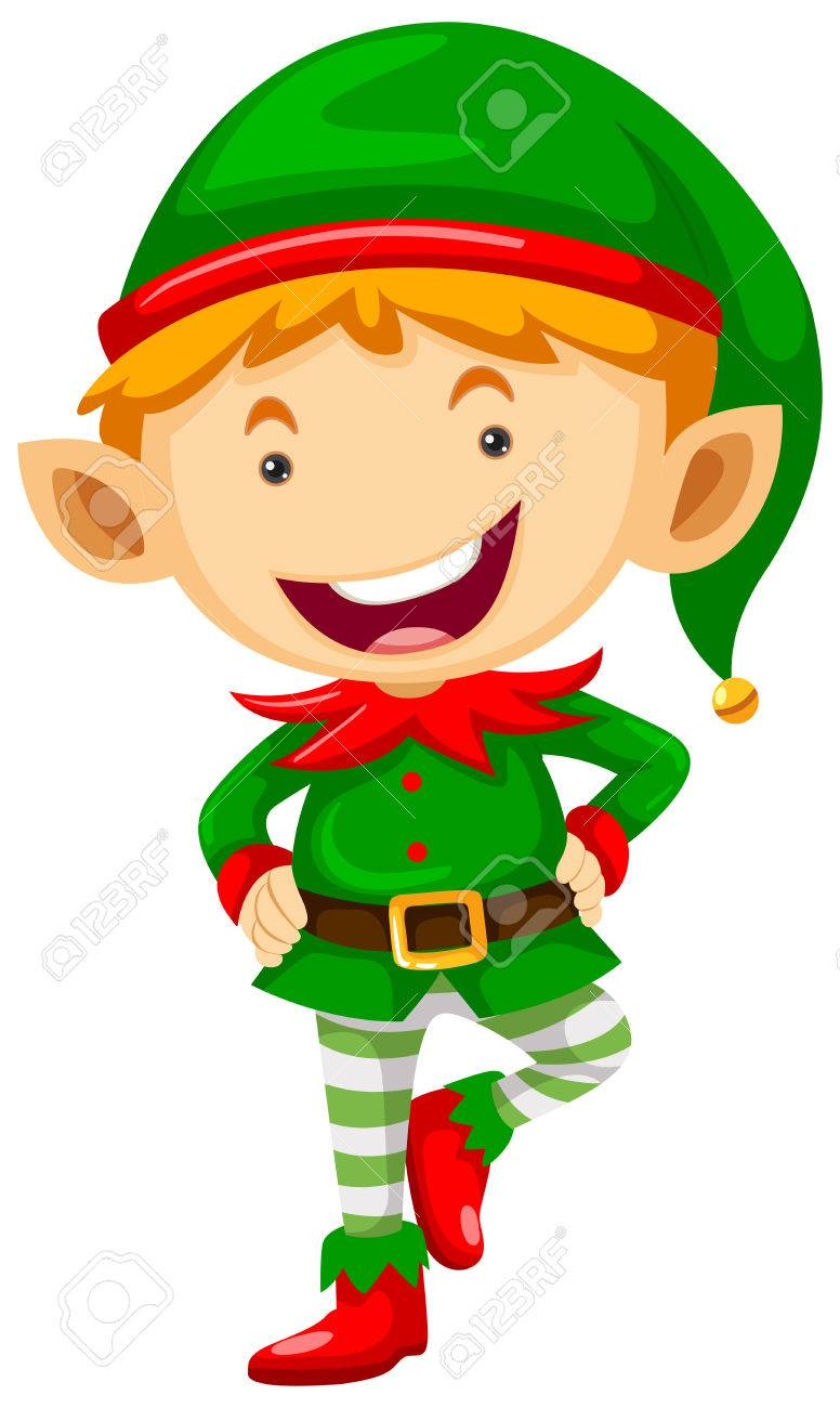 little elf with happy face illustration royalty free cliparts rh 123rf com Elf Boy Vector Graphics Fairy Vector Graphic