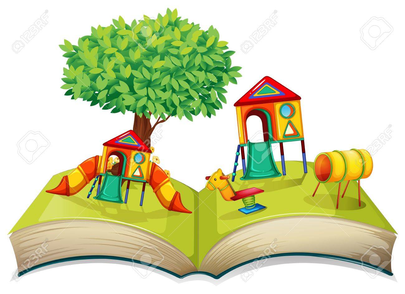 playground in the storybook illustration royalty free cliparts rh 123rf com story book clipart bible story clipart book