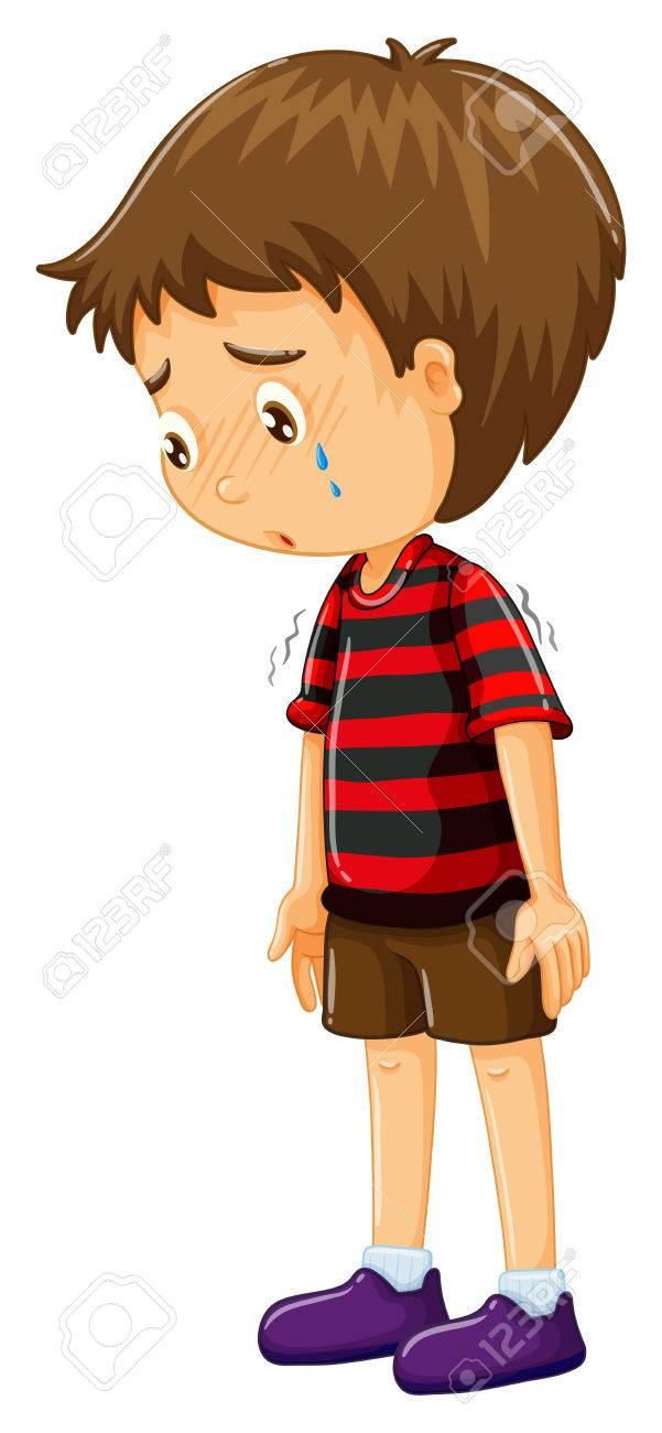 sad boy with his head down illustration royalty free cliparts rh 123rf com sad boy face clipart sad boy clipart black and white