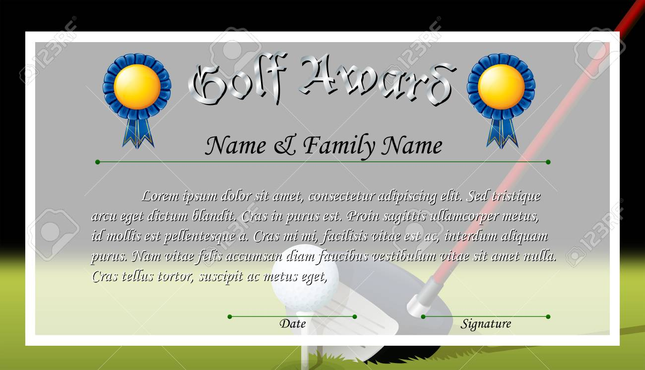 Certificate award for golf award illustration royalty free certificate award for golf award illustration stock vector 73056227 alramifo Choice Image
