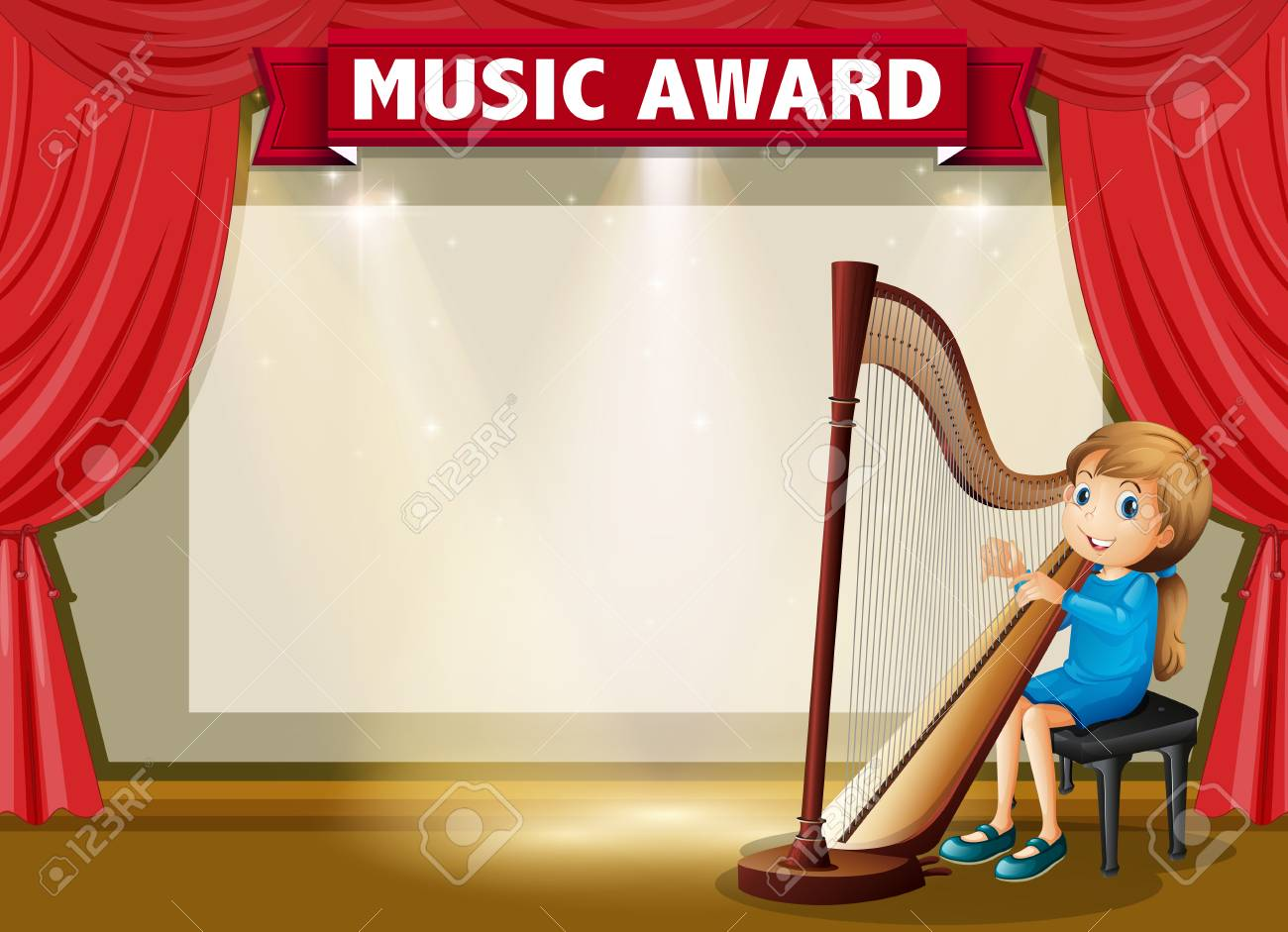 Certificate template for music award illustration royalty free certificate template for music award illustration stock vector 73056617 yelopaper Choice Image