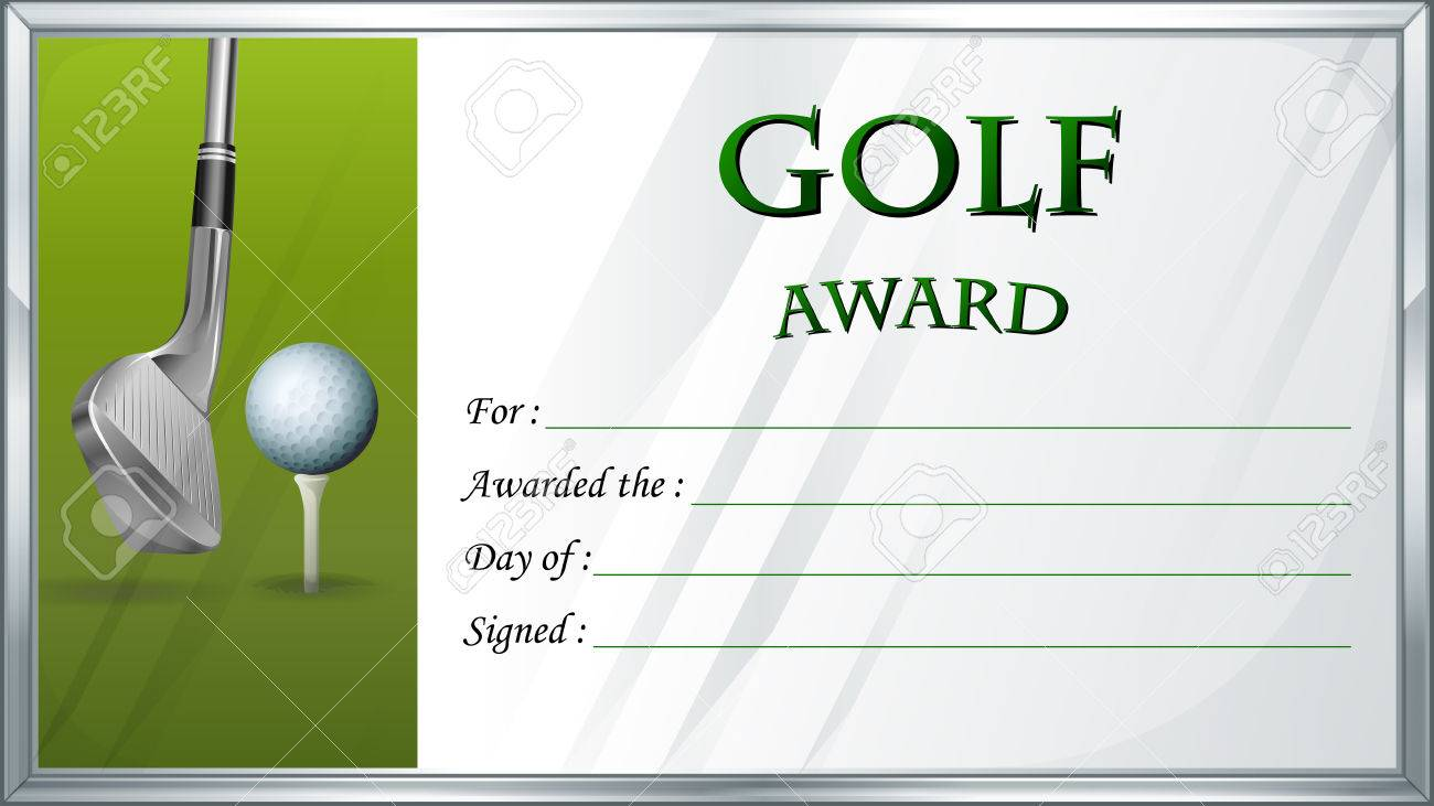 Golf award template with golf ball in background illustration golf award template with golf ball in background illustration stock vector 73505494 alramifo Choice Image