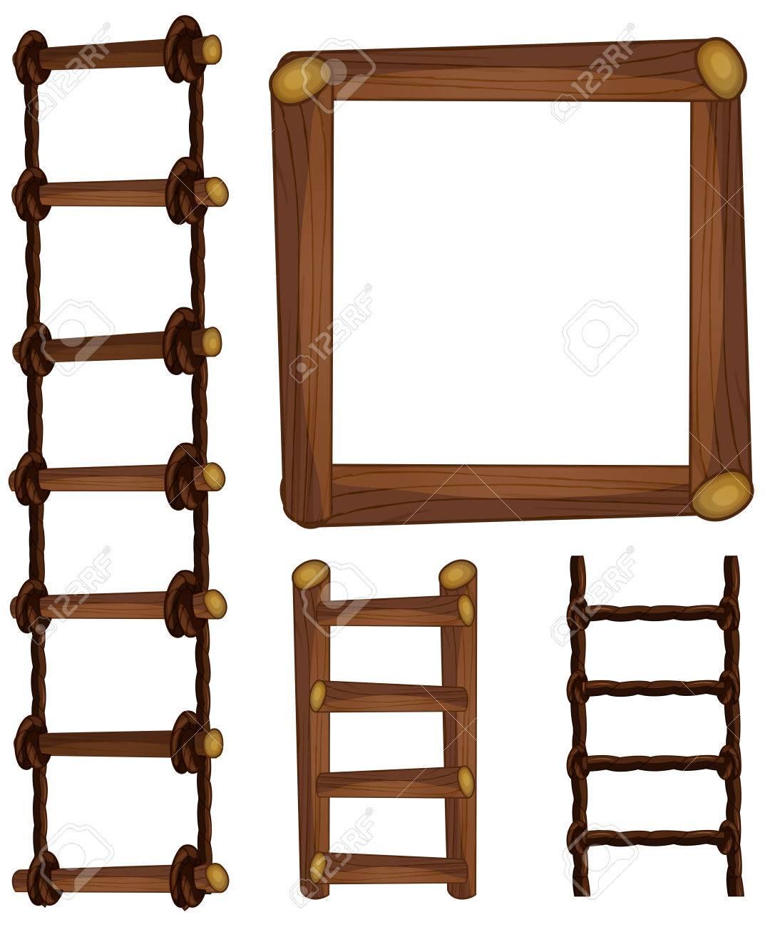 はしごや木枠イラストのイラスト素材ベクタ Image 73505603