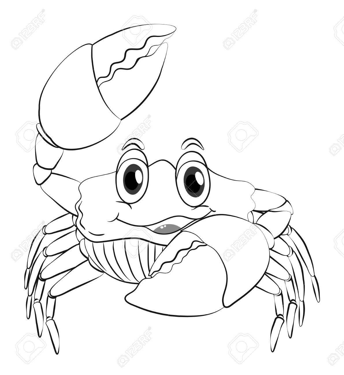 Tier Umriss Für Krabbe Illustration Lizenzfrei Nutzbare ...