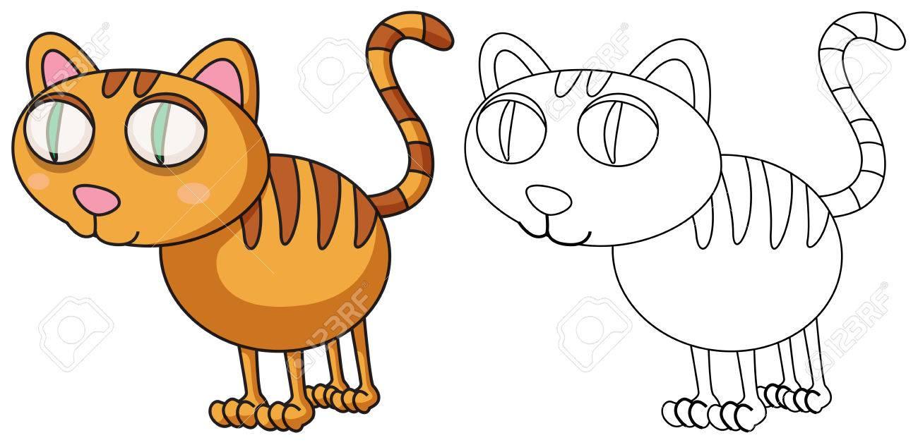 Gekritzel, Das Tier Für Katze Illustration Entwirft Lizenzfrei ...