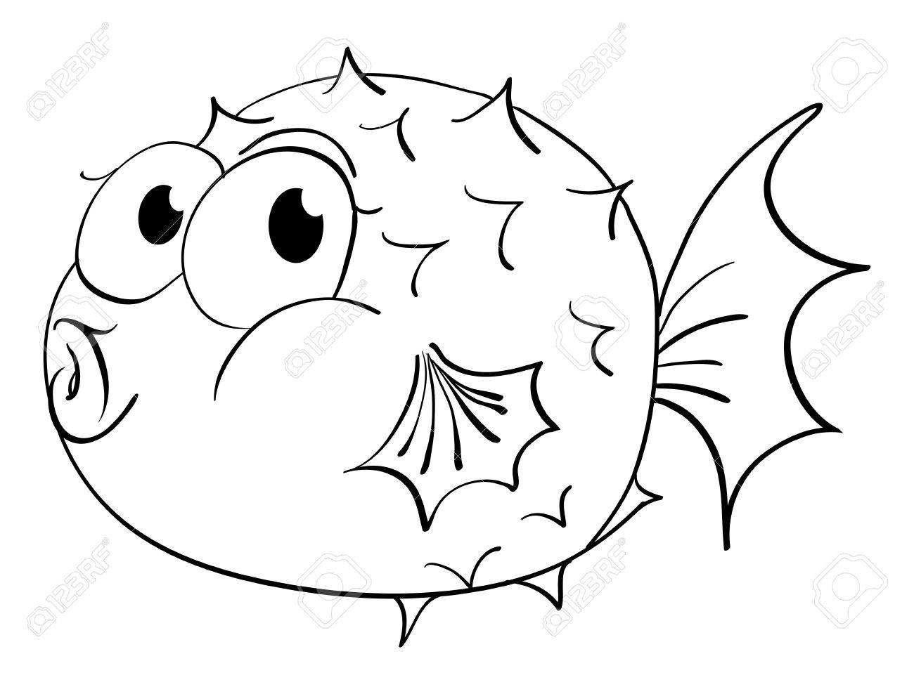 Animal Outline Clipart Wiring Diagrams Prewired Led39s Fusing In Parallel For Puffer Fish Illustration Royalty Free Cliparts Rh 123rf Com