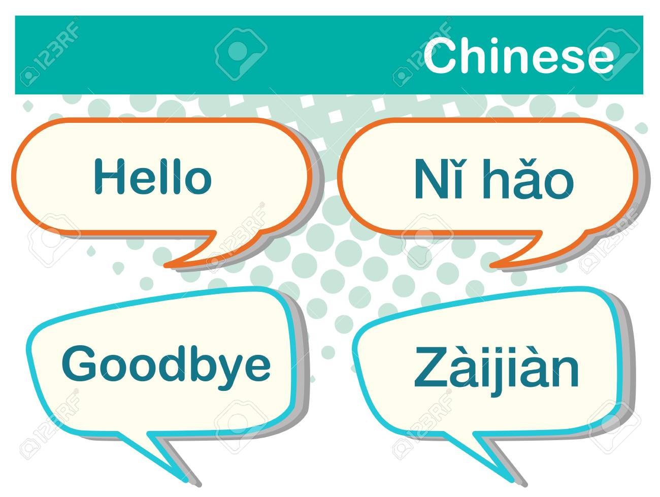 Greeting Words In Chinese Language Illustration Royalty Free