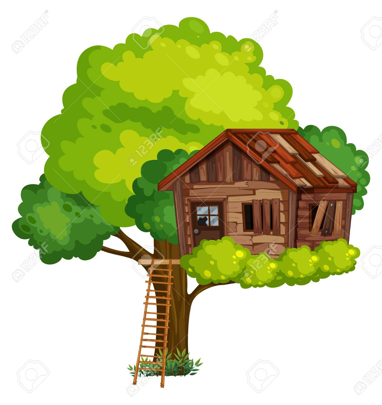 old treehouse made of wood illustration royalty free cliparts rh 123rf com free magic tree house clipart free magic tree house clipart