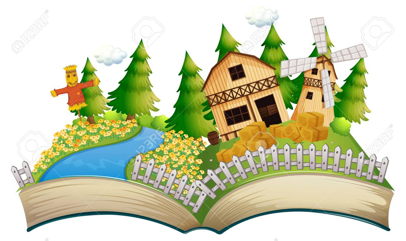 Story Book Vector