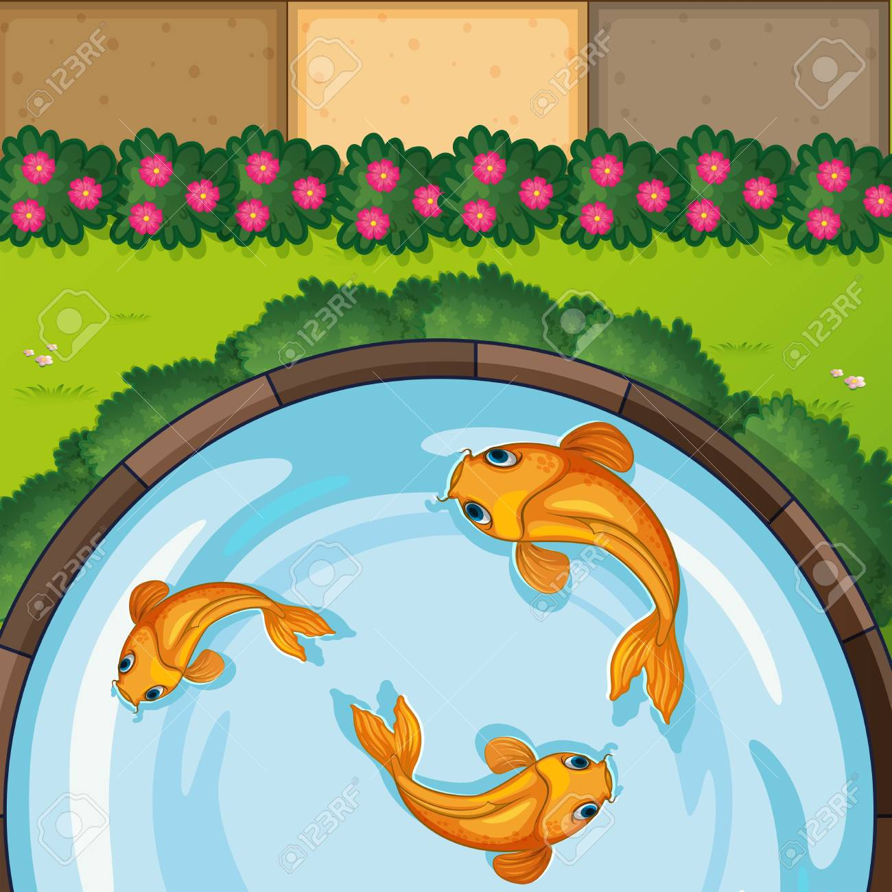 pond clipart - Royalty-Free Images | Graphics Factory