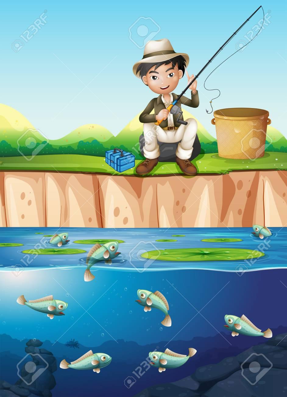 Fish Pond Cartoon Images, Stock Photos & Vectors | Shutterstock