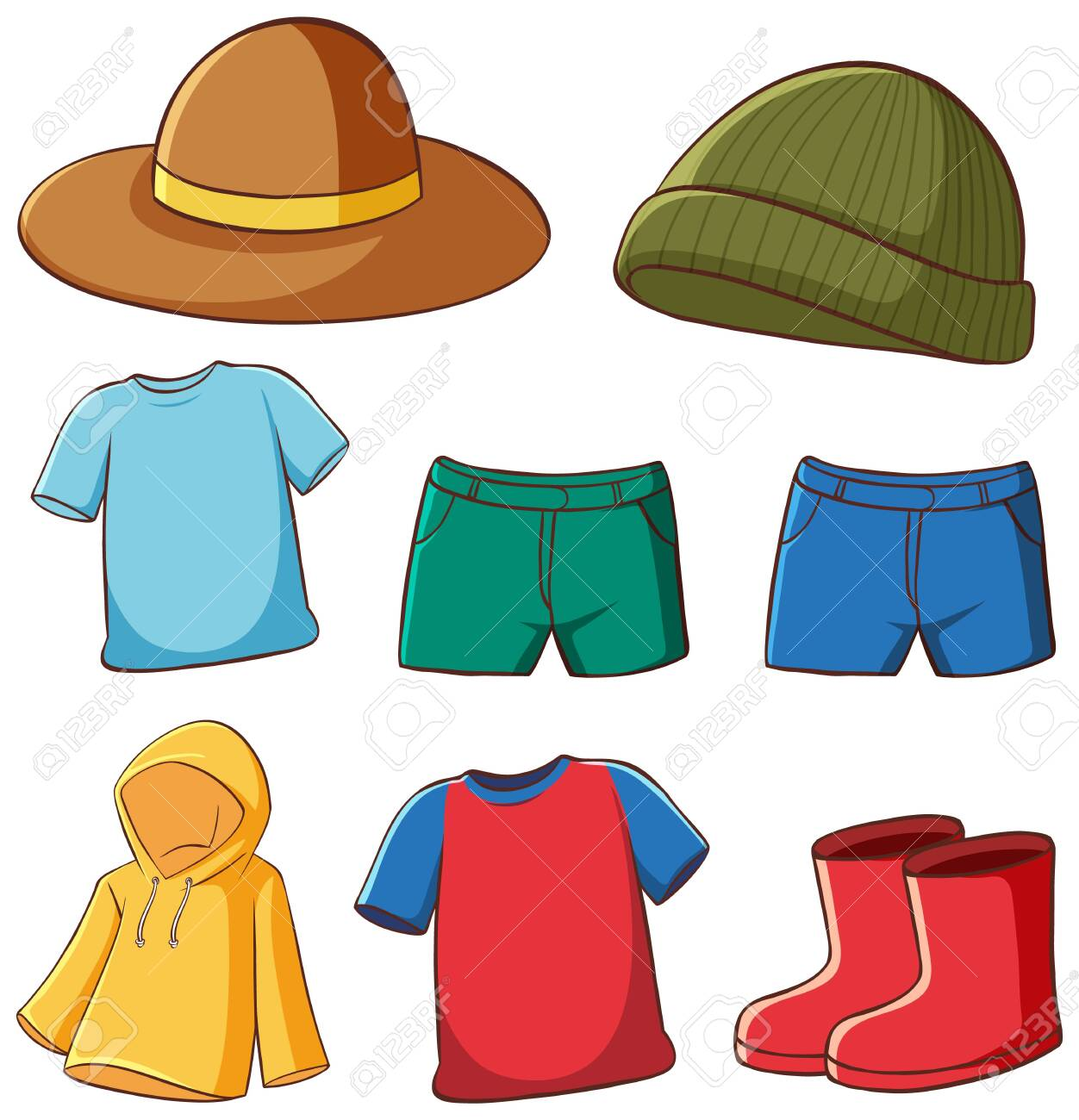 Set of isolated clothes illustration - 133193684