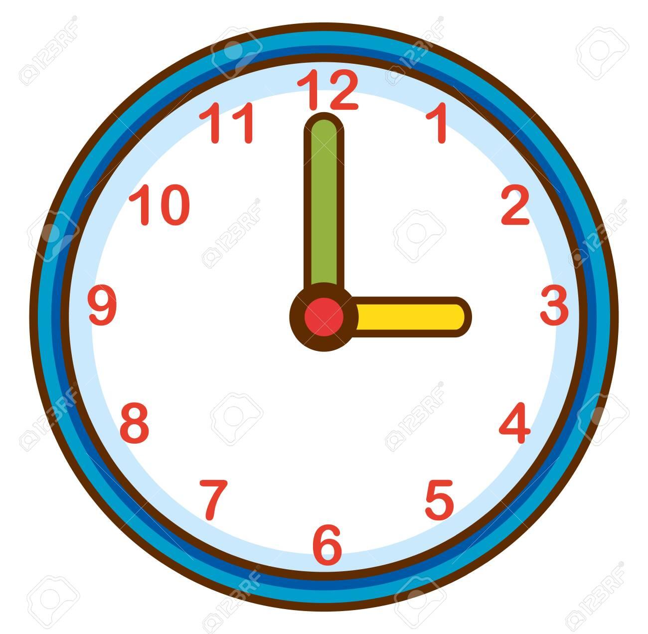 Wall clock on white background illustration - 133371475