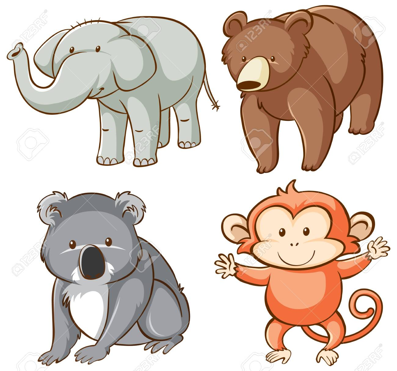 Isolated picture of wild animals illustration - 133419724
