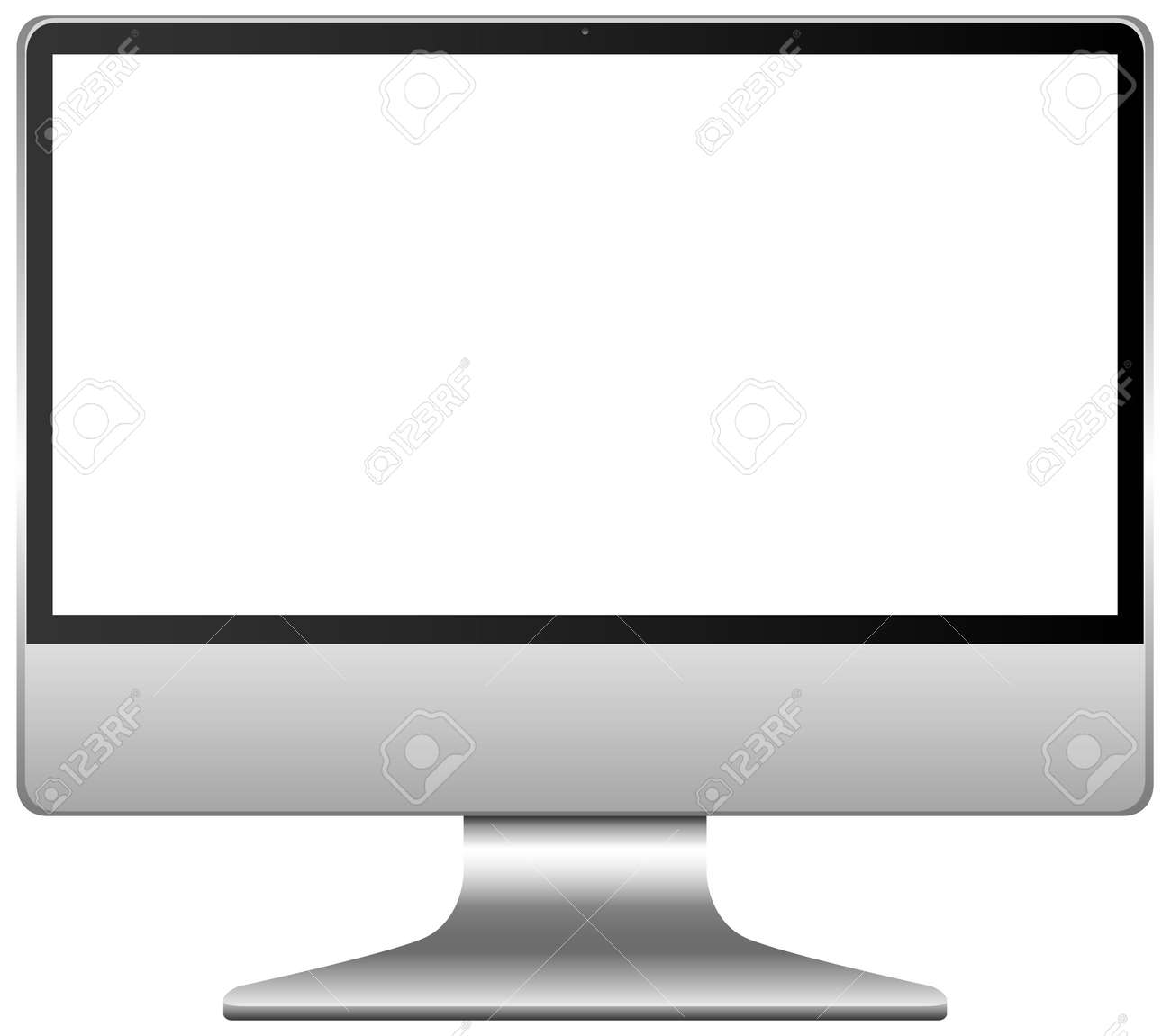 Blank screen computer icon isolated on white background illustration - 155136072