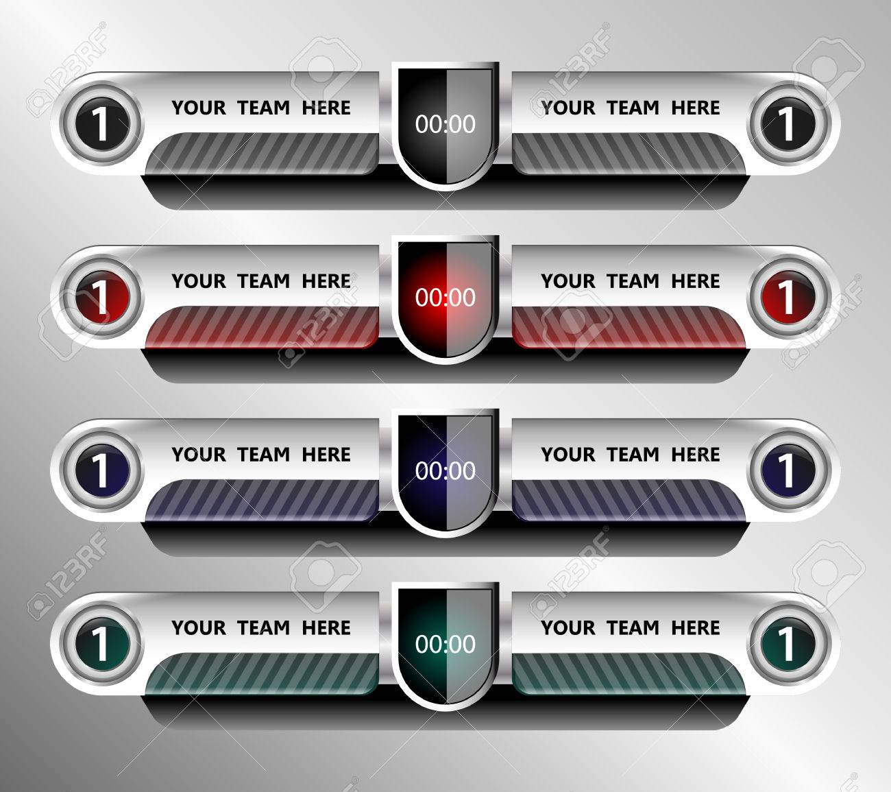 Football And Soccer Scoreboard Template On Grey Background – Scoreboard Template