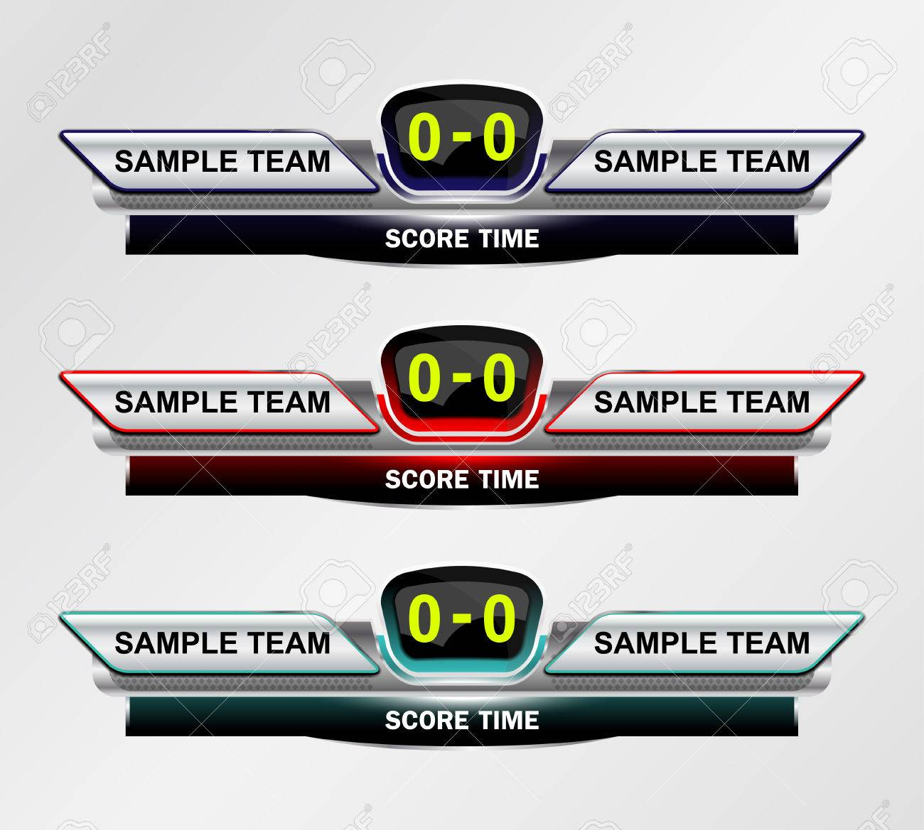 Sport Scoreboard Time Template For Footbll And Soccer Illustration – Scoreboard Template