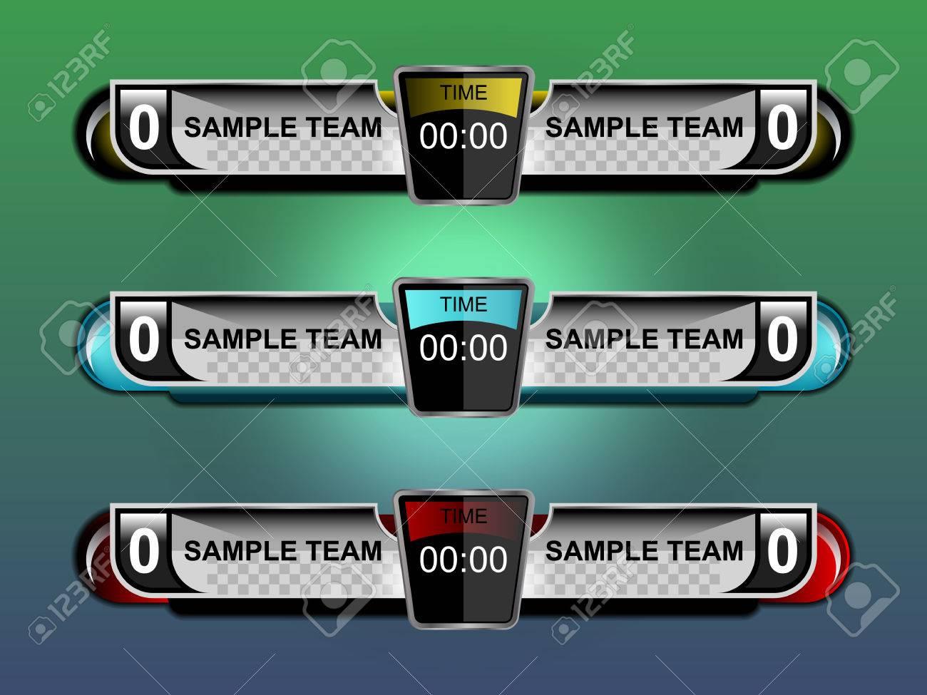 Scoreboard Template Design For Football Soccer Vector – Scoreboard Sample