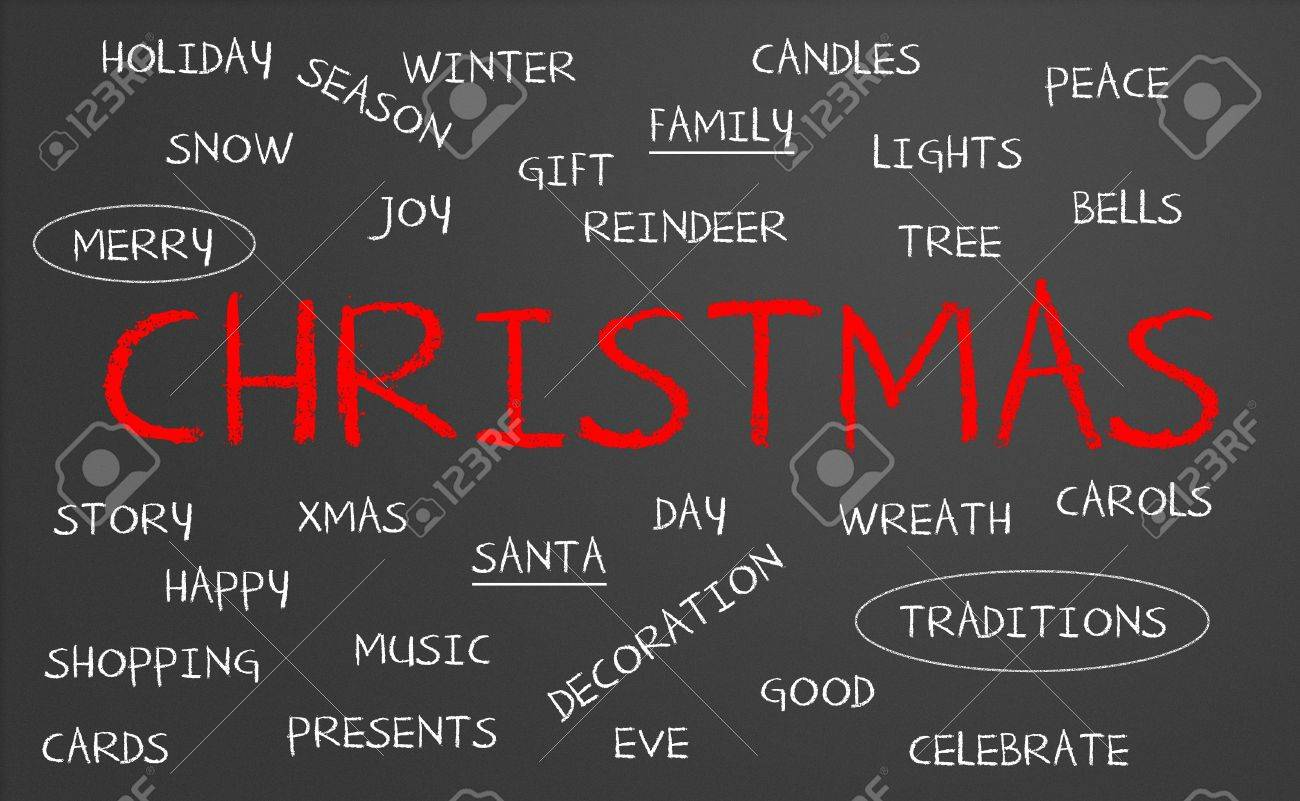 Chalkboard with christmas concept Stock Photo - 15417613
