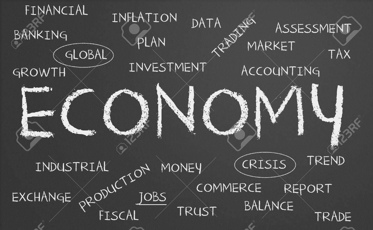 Chalkboard with economy concept Stock Photo - 15448224