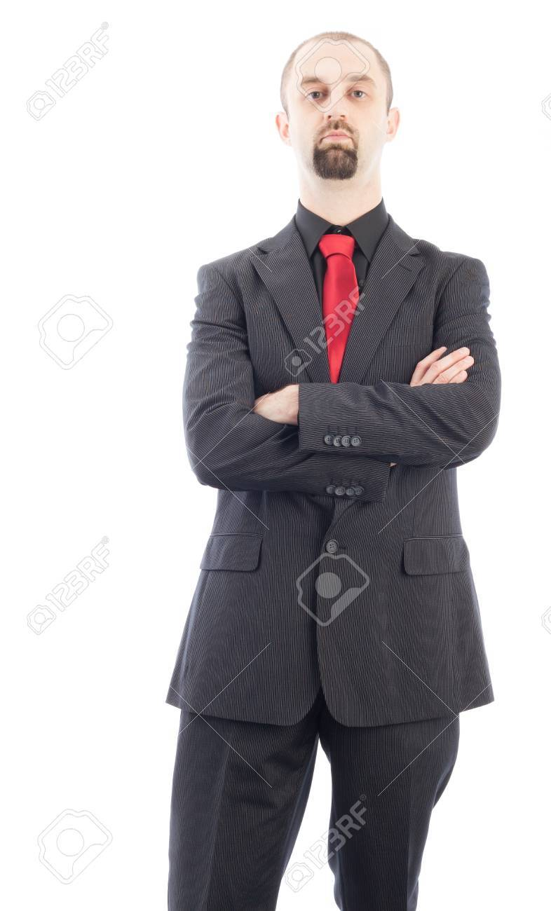 young businessman standing with his arms crossed Stock Photo - 15763321