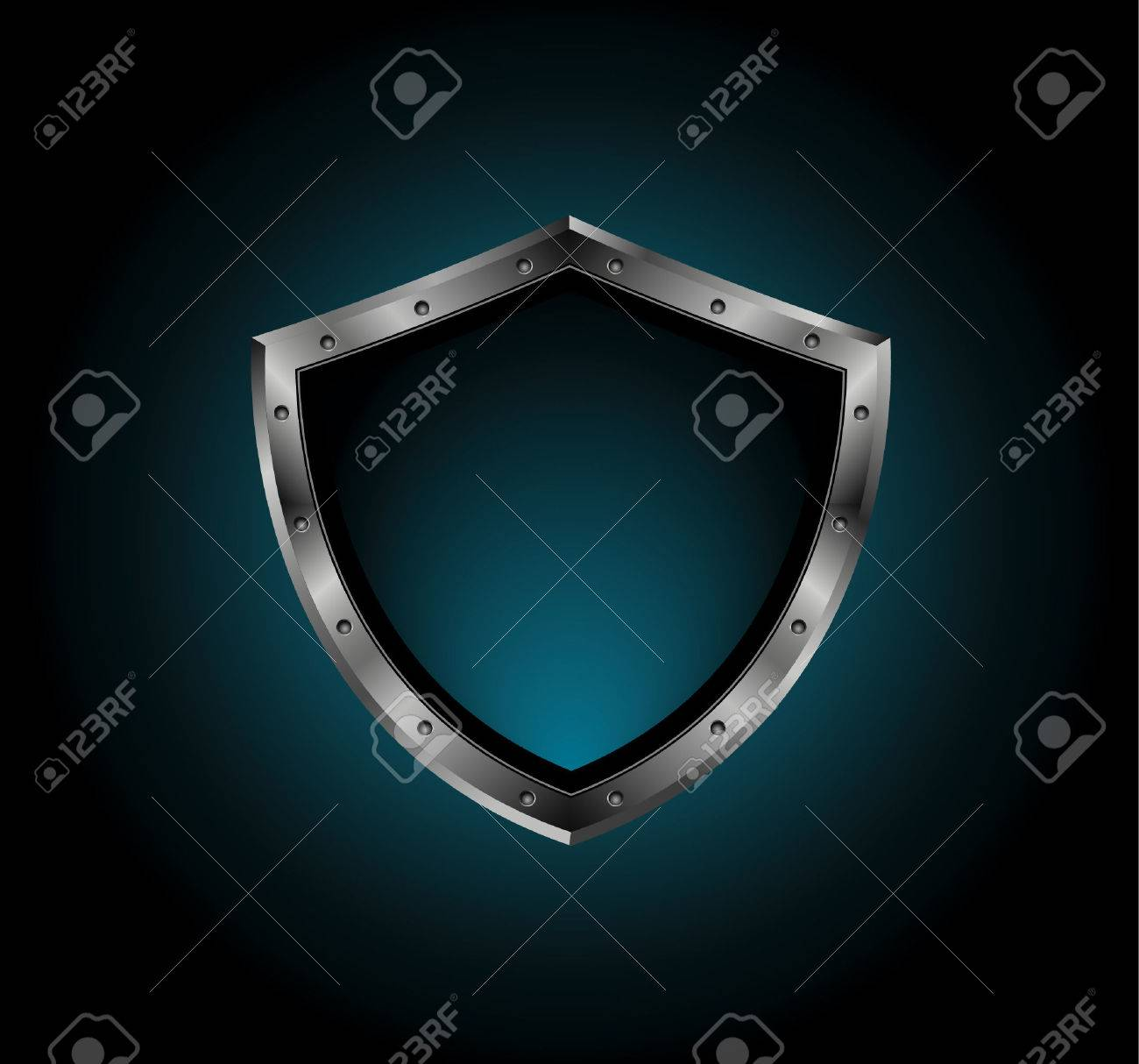 metal shield with bolts Stock Vector - 5566112