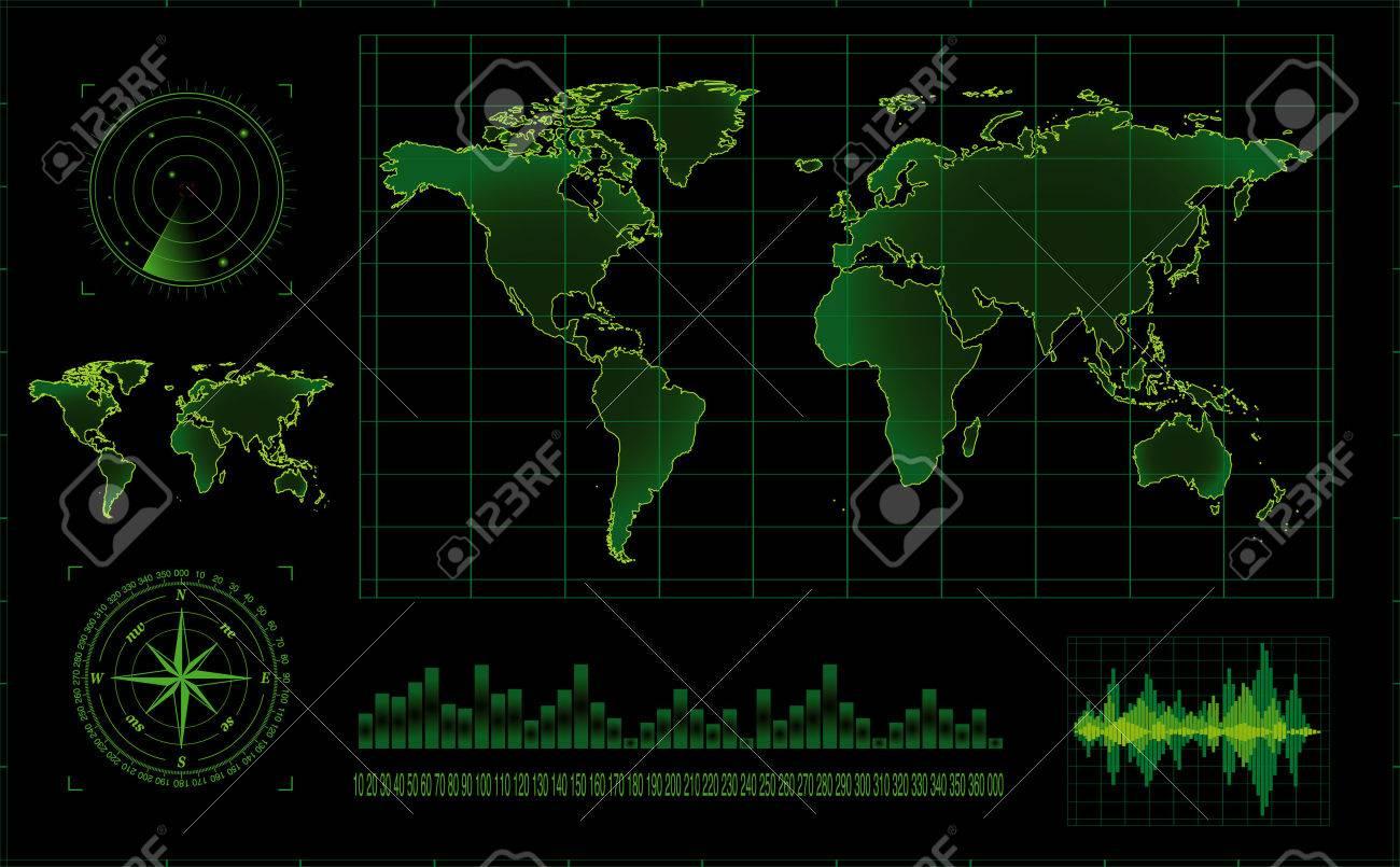 Vector radar screen Stock Vector - 5610398