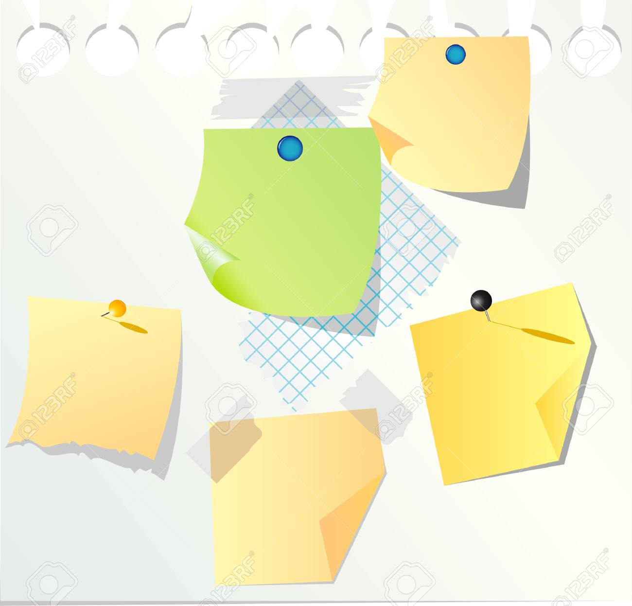 blank paper notes Stock Vector - 5903285