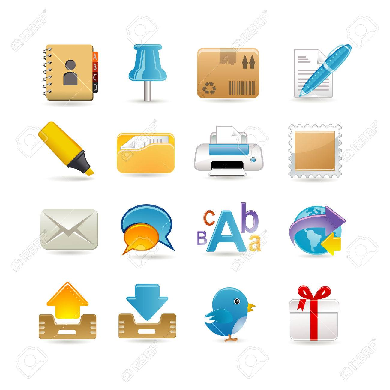 Post office icon set Stock Vector - 6567059