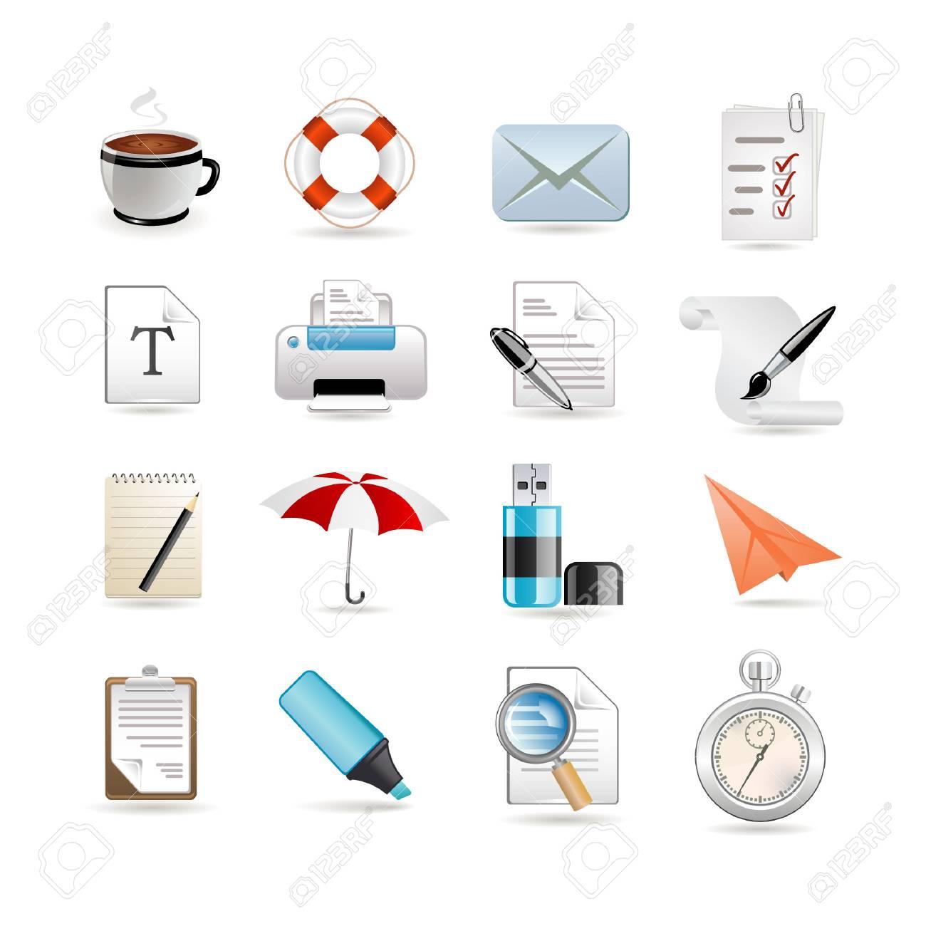 Universal set of web icons Stock Vector - 6730156