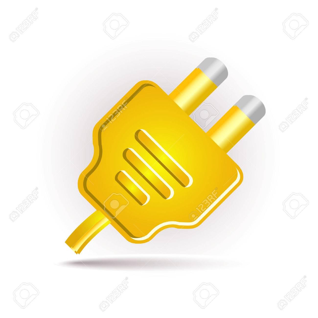 yellow plug in Stock Vector - 7524840