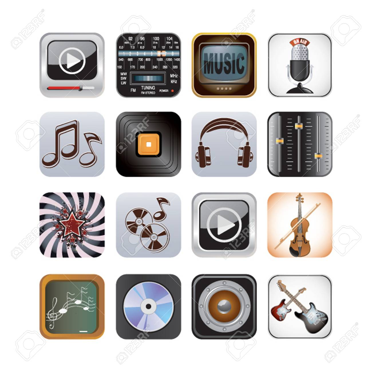 app music set Stock Vector - 19890636