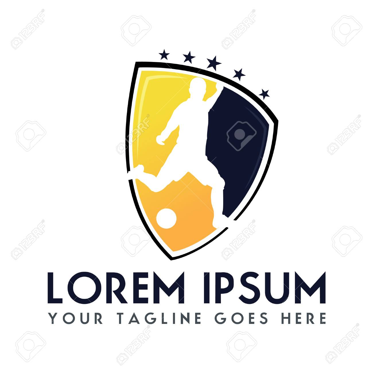 Soccer Football Club Logo Design Sport Team Identity Football Royalty Free Cliparts Vectors And Stock Illustration Image 79936495