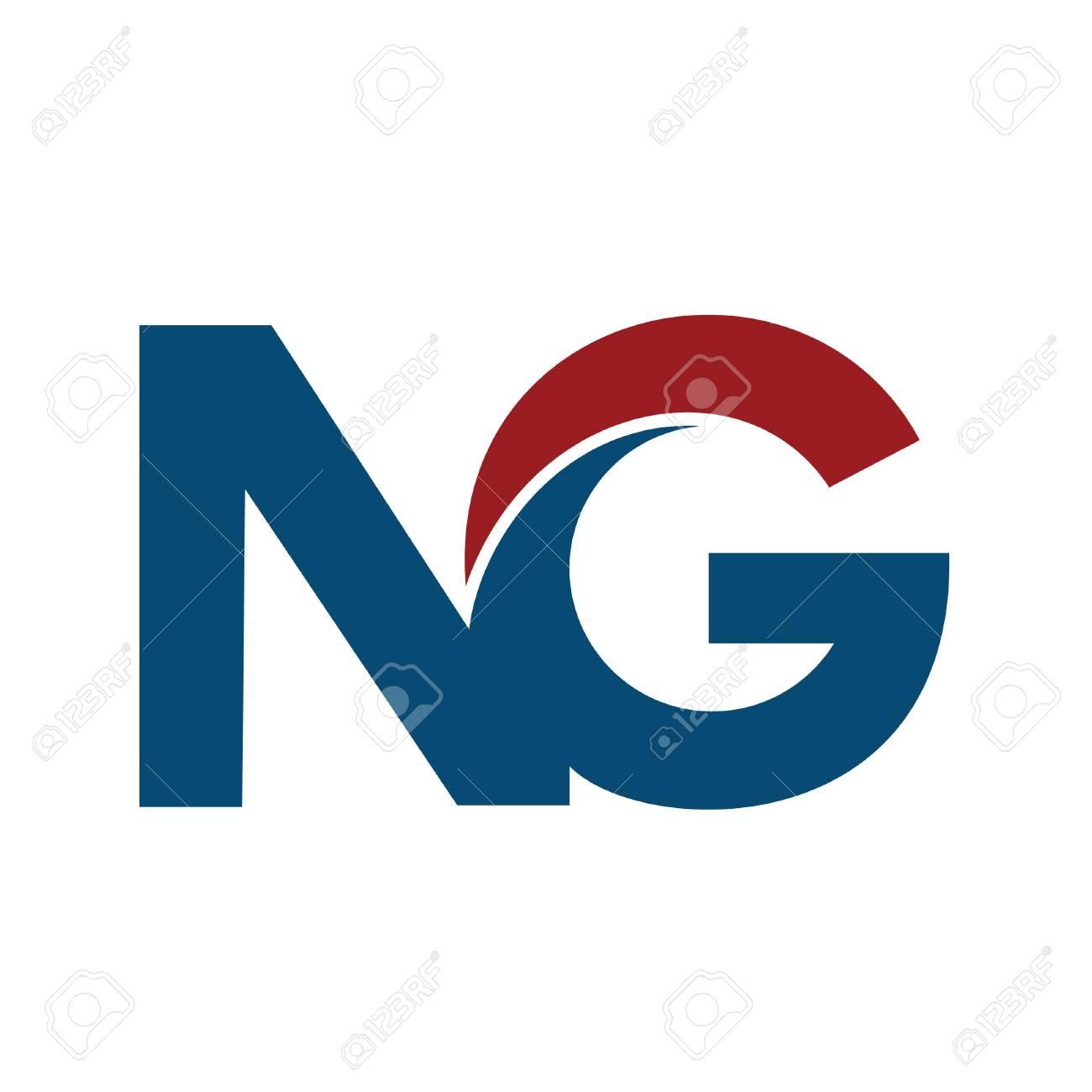 Ng N G Business Letter Logo Design Vector Illustration