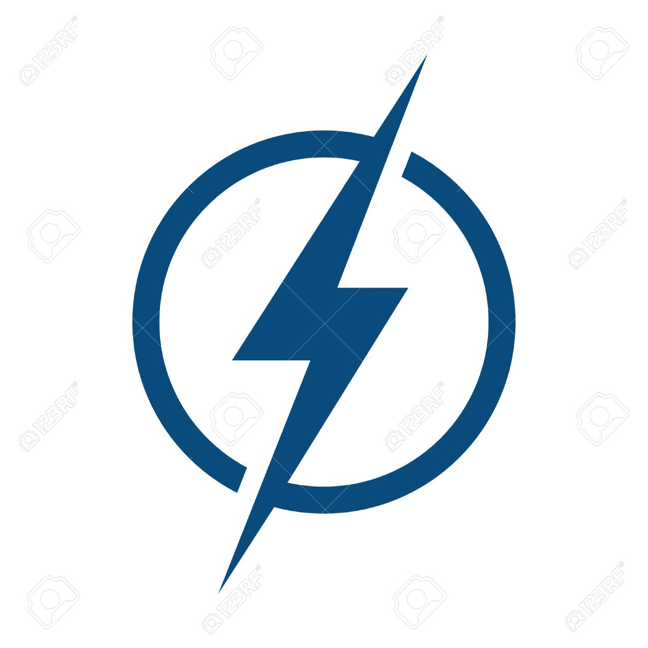 Circle Lightning Bolt Logo Design. Royalty Free Cliparts, Vectors ... for Lightning Logo In Circle  288gtk