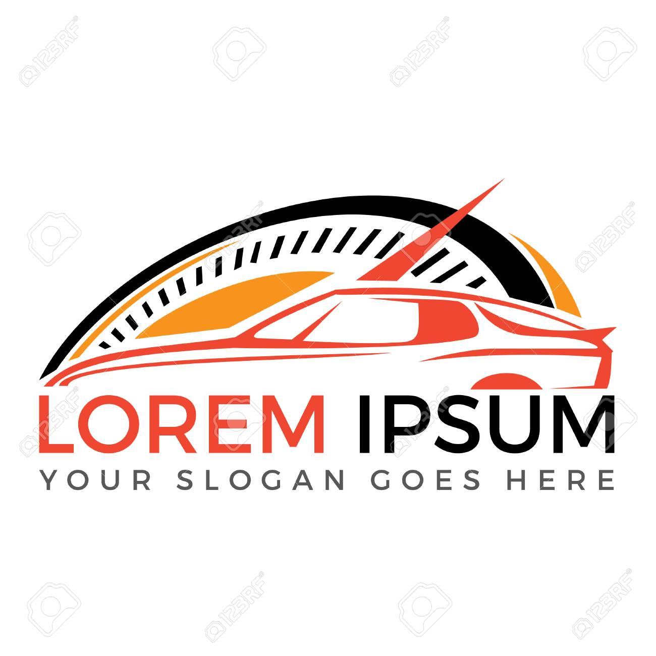 modern sports car vector logo design sports car and car racing