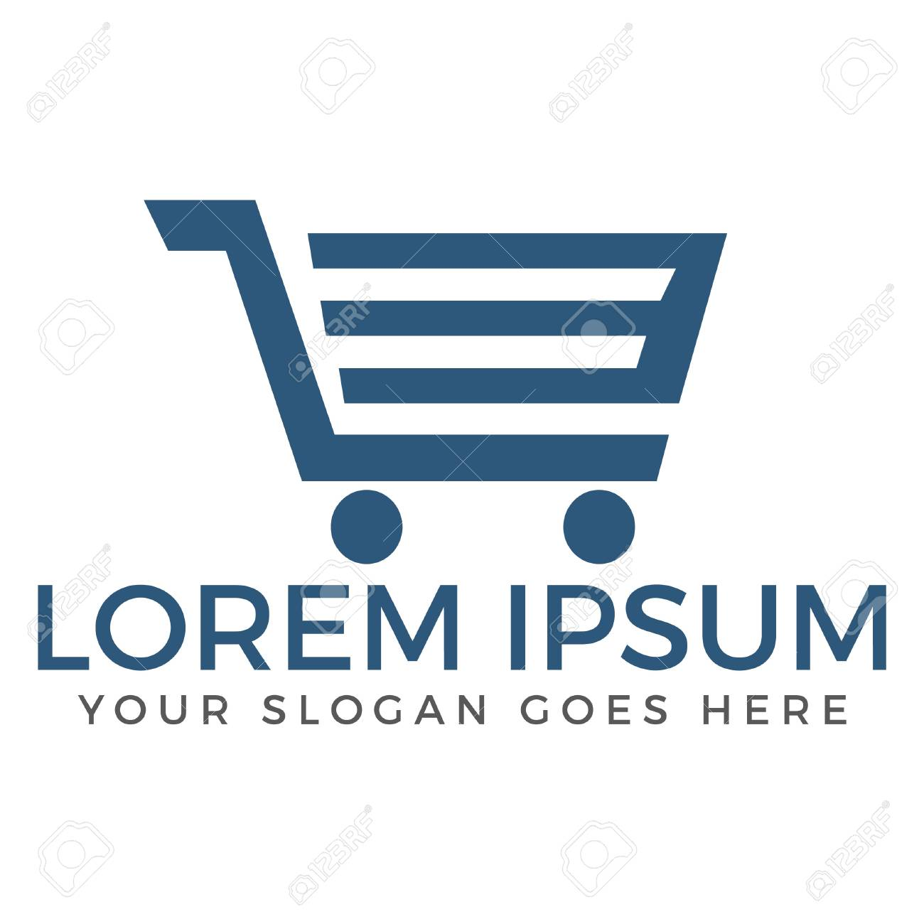 shopping cart vector logo design shopping app logo online shopping