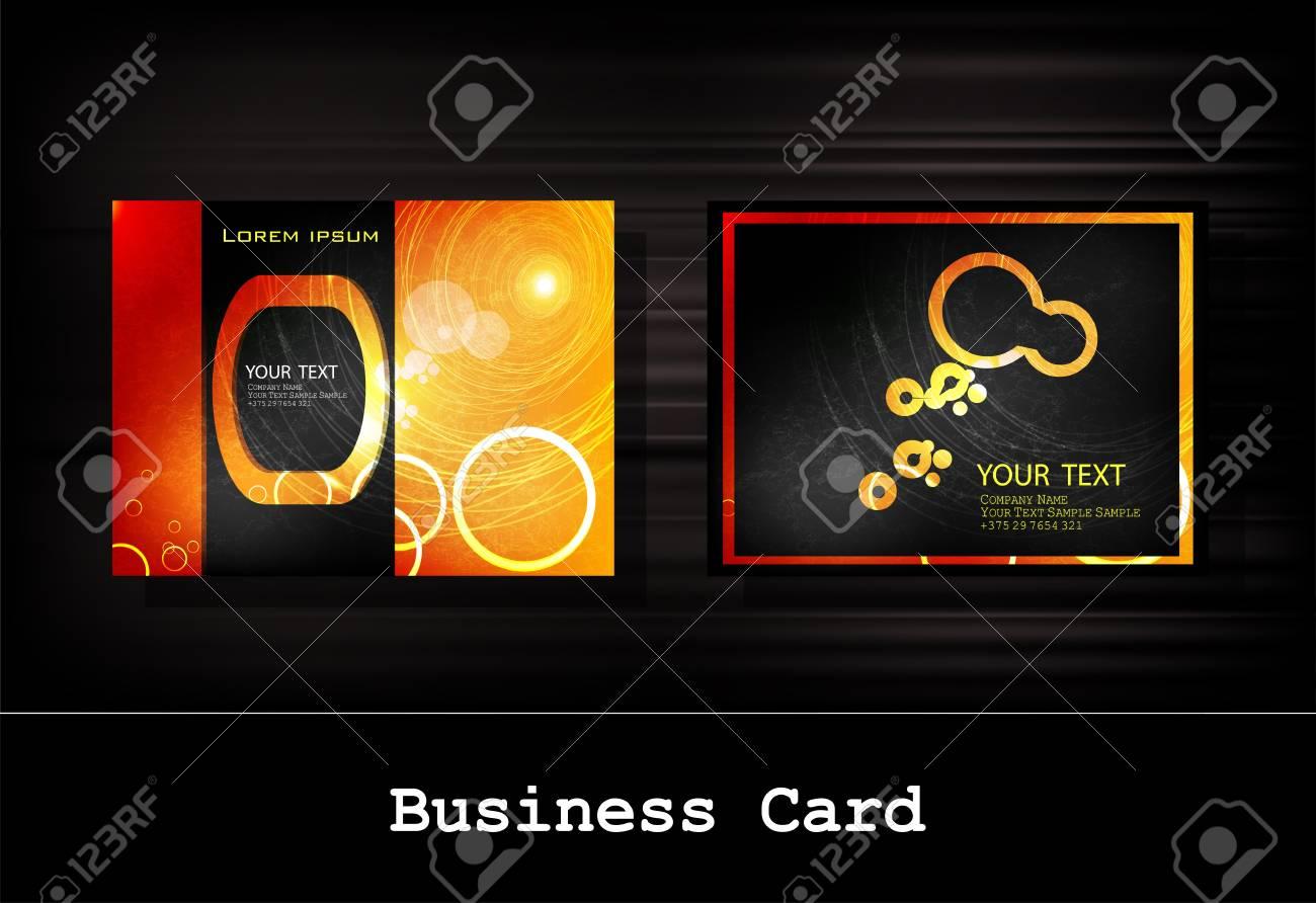 black business card set Stock Vector - 12332805