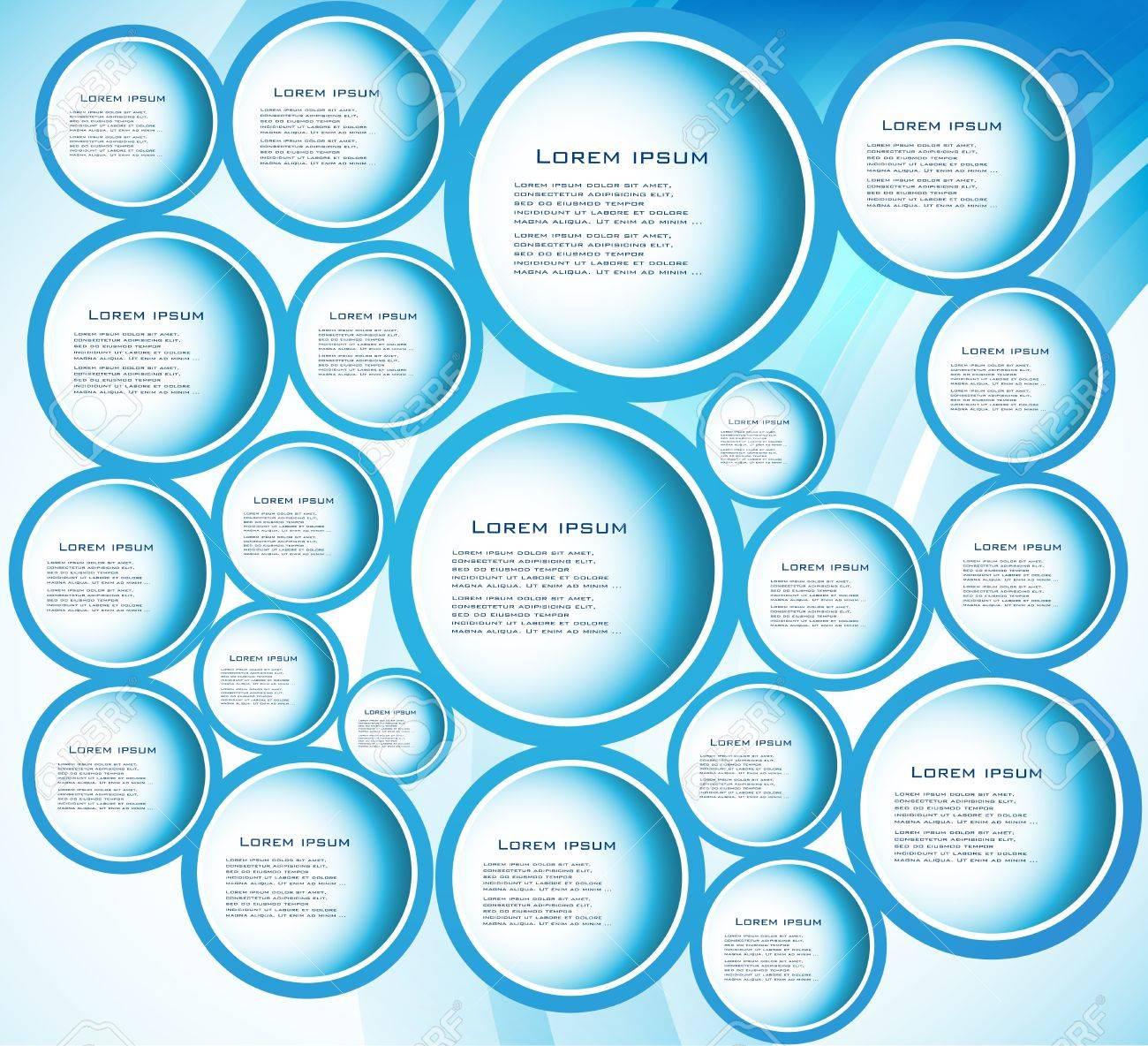 circle blue  curve Stock Vector - 13659831
