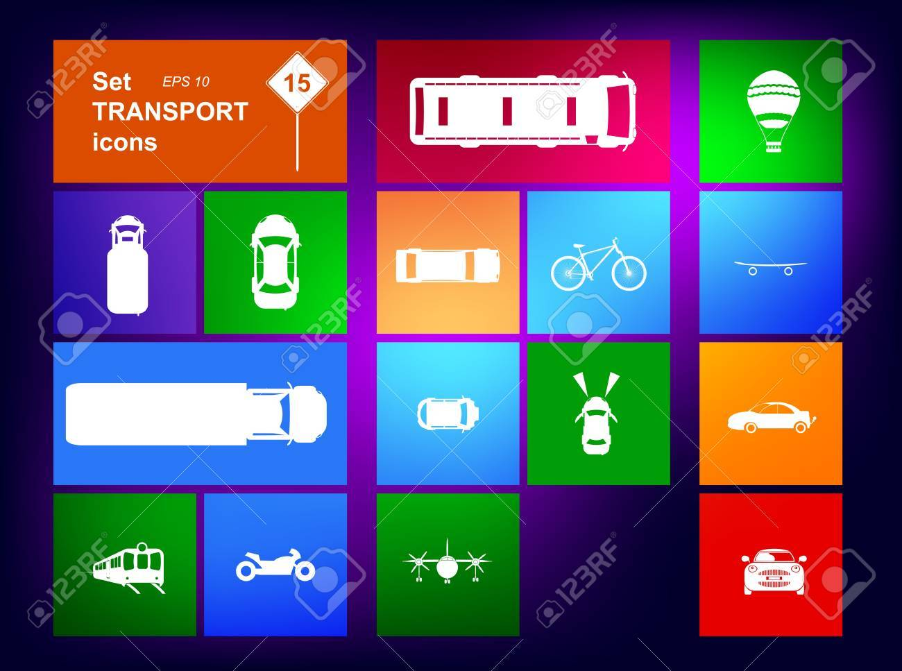 Set of transport icons navigator Stock Vector - 16029637