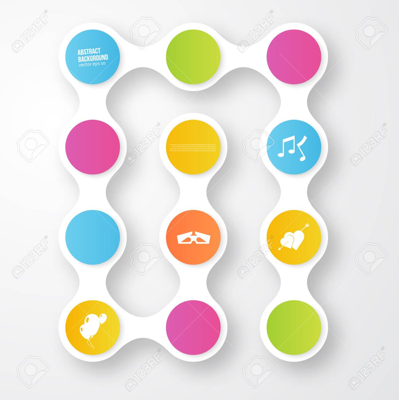 Vector color circles.  infographic Color and molecule Stock Vector - 23880958