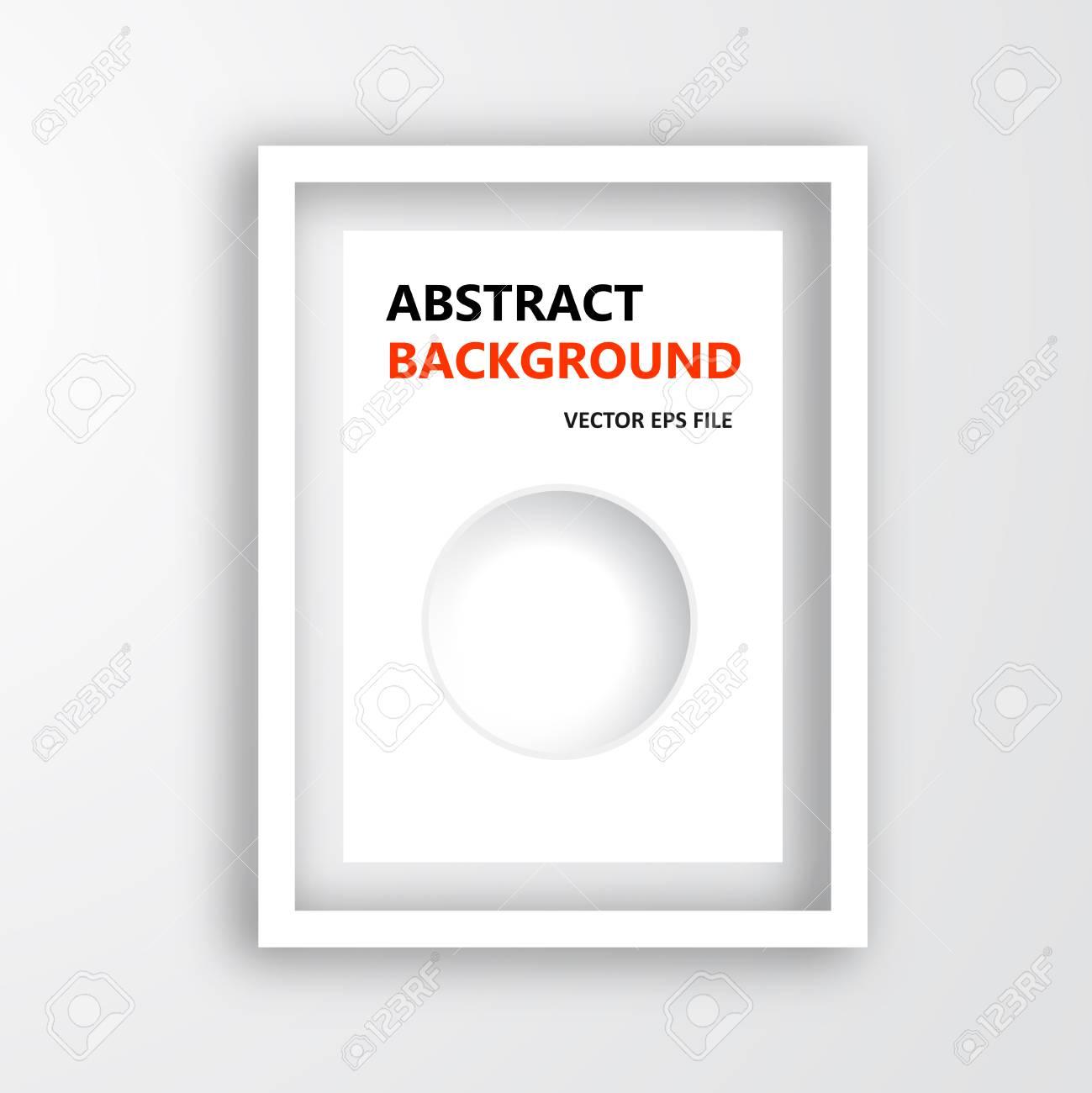 Vector Marco 3D. Diseñar Para La Imagen O Texto. Agujero Y El ...