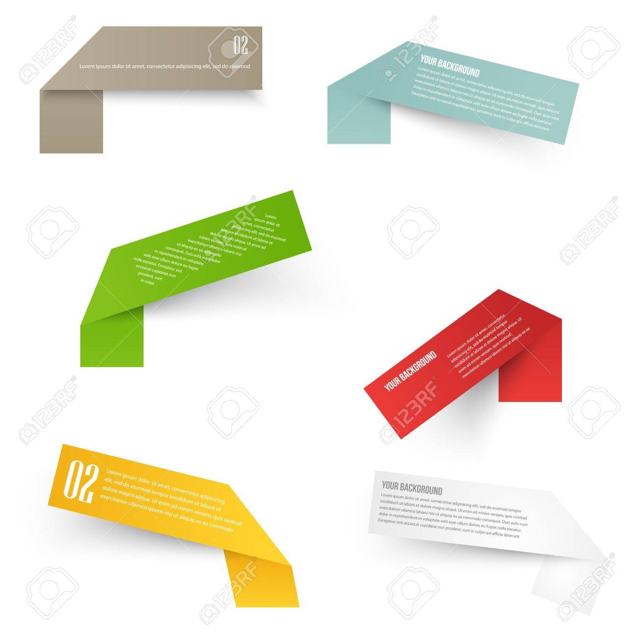 Set of blank rectangle labels with acute corners - 29232374