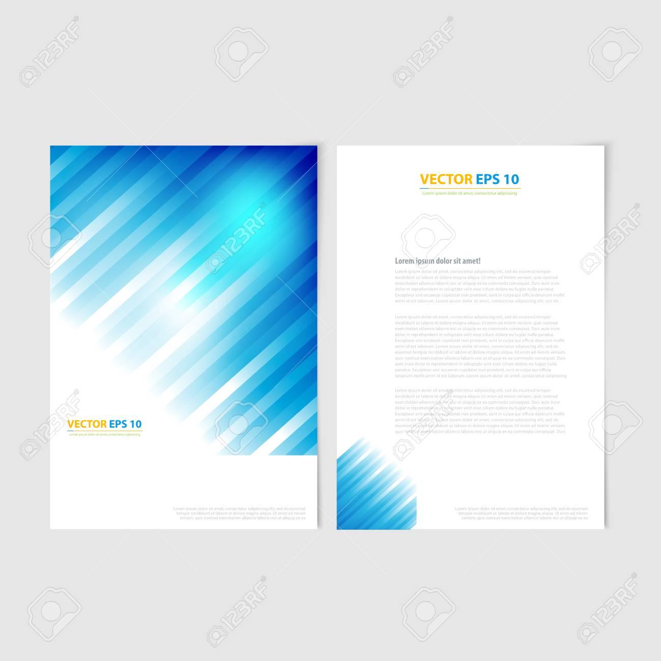 Azure Flyer Template   Flyer Template Back And Front Design Brochure Design Templates