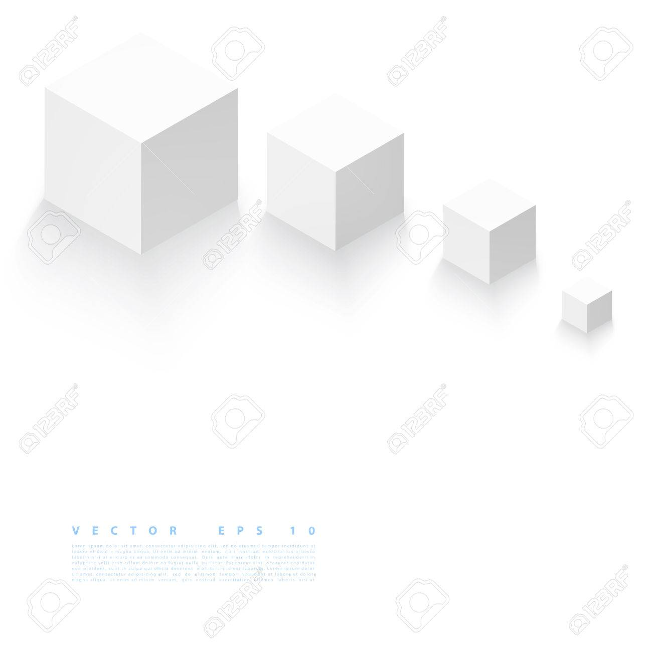 Vector Abstract geometric shape from gray cubes. - 35859419
